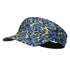 Visière sport en sergé de coton, Visière Sun Sports Exercice – séchage rapide – pas de maux de tête évacuation de l'humidité pour Golf, Softball, Volleyball, Course à pied (2 pièces),Camouflage blue