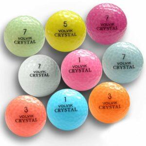 Volvik 36Officielle Cristaux AAAAA utilisé Balles de Golf de Couleur Disponibles