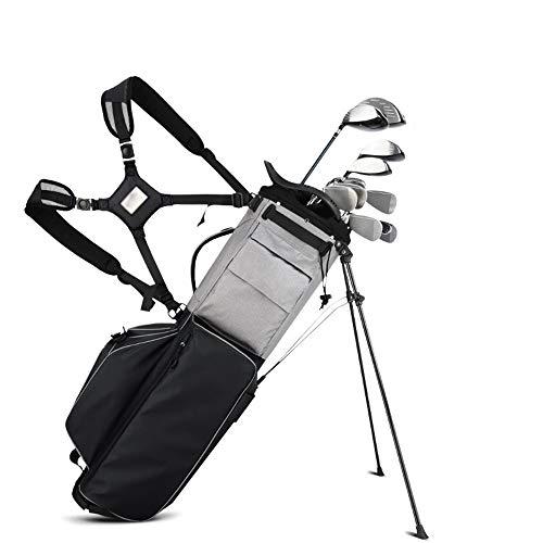 XJLJ Sac de Golf Hommes Femmes Golf étanche Sac sur Pied Sac de Golf Organisateur Voyage Case Multifonctionnel Sac Golf Classic Case Golf Voyage Organisateur Golf Sacs Portables