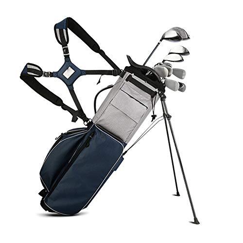 XJLJ Sac de Golf Multi-Fonctions de Golf Sac sur Pied Organisateur Voyage Case Golf Sac étanche Adulte Golf Organisateur Voyage Cas for Les Hommes des Femmes, Sacs de Golf Stand Bleu