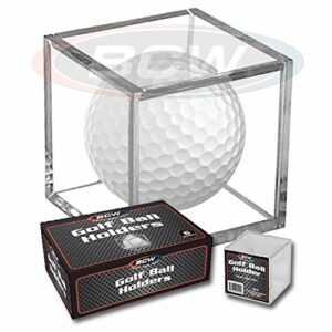 (3) Golf Ball Display Case Stackable Square Cube Holder Display Stand by BCW