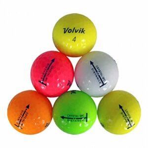 72 Mint Volvik Crystal Mix Used Golf Balls AAAAA – 6 Dozen
