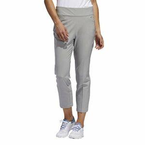 adidas Golf Pantalon de golf à enfiler pour femme Modèle 2019, Femme, Pantalon, Pull-on Ankle Pants, Gris uni moyen., Small