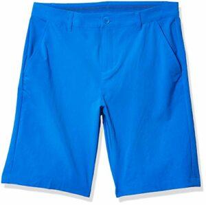adidas Solid Short de golf pour garçon, Fille, Short, Solid Golf Shorts, Glory Blue, X-Small