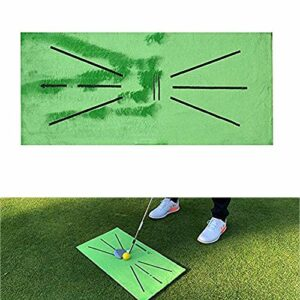 asdfZXCV Tapis D'entraînement De Golf pour La Détection De Balançoire Au Bâton Mini Tapis D'entraînement De Golf Green Putting Ball Training Aides Tool Carpet