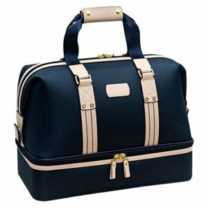 Balle de golf- Sac de golf pour homme Sac de sport double couche de grande capacité pour sac de sport léger avec sac à bagages et compartiment à chaussures ( Color : Blue , Size : 25*31*44cm )