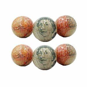 Balles de Golf Personnalité Wen Balles De Golf Cadeau Double Couche Golf Billet Impression Motif Golf Couleur Transparent Cristal Boule De Neige Stade pour l'entraînement de Golf