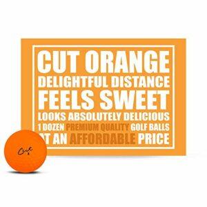 Balles de Golf Unisexes Orange Mat, 1 douzaine