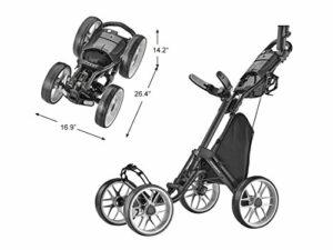 Caddytek Chariot de Golf 4 Roues – Caddycruiser One Version 8 – Léger, Compact, Facile à Ouvrir, Mixte, CaddyCruiser One Version 8 – Dark Grey, Gris foncé, Taille Unique