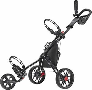 Caddytek Chariot de Golf à 3 Roues – Léger, Pliable, Pliable, Facile à Ouvrir – CaddyLite 11.5 V3, Mixte, CaddyLite 11.5 V3 – Black, Noir, Taille Unique