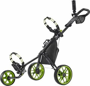 Caddytek Chariot de Golf à 3 Roues – Léger, Pliable, Pliable, Facile à Ouvrir – CaddyLite 11.5 V3, Mixte, CaddyLite 11.5 V3 – Green, Citron Vert, Taille Unique