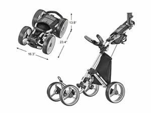 Caddytek – Chariot de Golf Ultra léger à 4 Roues Explorer V8, Mixte, Explorer V8 – SIL, Argenté, Taille Unique