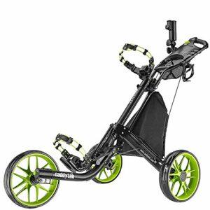 Caddytek facile pliage chariot de golf 3 roues, citron vert
