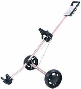 Chariot de Golf Golf Push Cart Support de chariot de golf pliable léger à 2 roues avec poignée de poussée réglable et tableau de bord et panneau multifonction de frein à pied Facile à transporter et