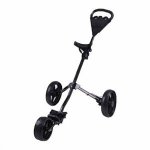 Chariots De Golf 3 Roues Golf Chariots Pliant Golf Pousser Tirer Chariot avec 360 Roues Avant Rotating for l'extérieur Voyage Accueil Sport l'exercice Pousser la Main Voiturette (Color : Black)