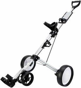 Chariots De Golf Golf Chariot léger à 4 Roues Pliable Une Seconde Ouvrir et Fermer Golf Push Cart Golf Holder Chariot avec Bottle Cage Scorecard