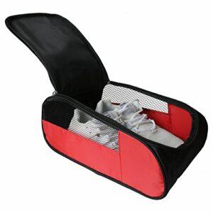 Chaussures de golf de plein air Sacs de voyage Chaussures de Sacs Sacs de sport zippé Sac de chaussures de sport (rouge)