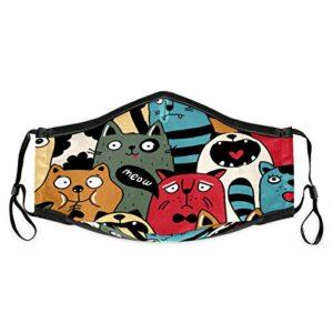 Cherrylove Cagoule unisexe en tissu lavable avec filtres pour chats mignons