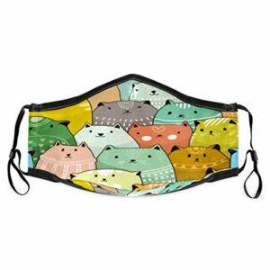 Cherrylove Cagoule unisexe en tissu lavable avec filtres pour chats – Protège-dents – Confortable – Coupe-vent – Anti-poussière