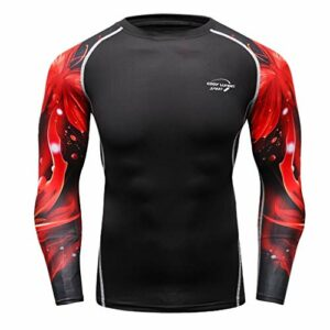 Donci T Shirt Mens Performance Long Sleeve Compression Shirts Cool Dry