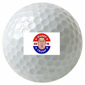 Dump On Trump Humor 3-Pack Printed Golf Balls