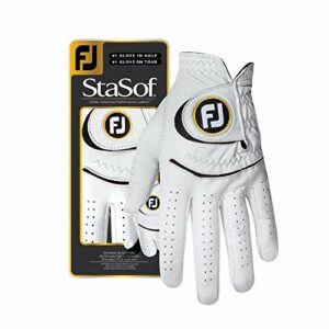 Footjoy StaSof Gants de Golf pour Femme Blanc Taille M/L