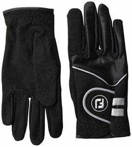 FootJoy Women's RainGrip Golf Gloves, Pair, Black Small, Pair