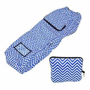 frenma Housse de Protection pour Sac de Golf, boîtier de Sac à Rayures Blanches Bleues, pour Parcours de Clubs(Blue and White Stripes)