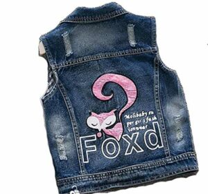 Garçon Denim Gilet Printemps Automne Broken Hole Style Enfants Gilet Jeans Veste pour 2-7 T Vêtements Pink 3T