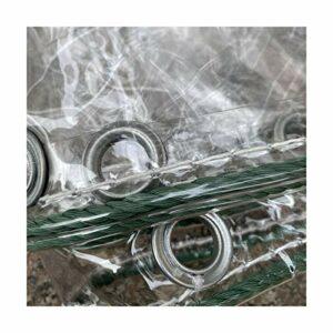 GDMING À Toute Épreuve Bâches, Transparent Imperméable Bâche avec Œillets, Stable Aux UV Extérieur Housse De Protection pour Jardin Meubles (400 G / M2), Personnalisable