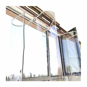 GDMING Bâche De PVC, Transparent Imperméable Bâche en Plastique avec des Trous Brise-Vent, Extérieur Résistant Aux Intempéries Panneau De Rideau Couverture, 14 Tailles (Color : Clair, Size : 2X 4m)