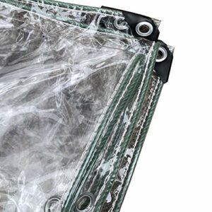 GDMING Bâches Transparente Imperméable, Extérieur Transparent Cloison avec Œillets, pour Imperméable Coupe-Vent PVC Couverture De Balcon (400 G / M2), Personnalisable (Color : Clair, Size : 5x10m)