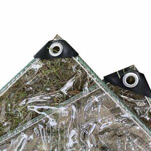 GDMING Bâches Transparente, Imperméable Ombre Canopée avec Oeillets, PVC Résistant Aux Intempéries Panneau (400 G/M2) pour Extérieur Jardin Couvertures Végétales, Personnalisable