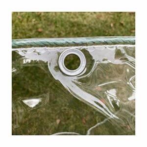 GDMING Imperméable Bâches en Plastique, À Toute Épreuve PVC Bâches Transparente avec Oeillets, Protection Solaire Coupe-Vent Couvertures Végétales Membrane (400G/M2), Personnalisable