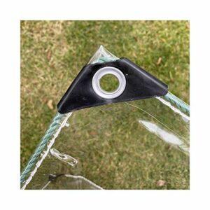 GDMING Imperméable Transparent Bâche, À Toute Épreuve PVC Plastique Rideau avec Oeillets, Intérieur et Extérieur Cloison Anti-buée (400G/M2), Personnalisable (Color : Clair, Size : 4X10M)