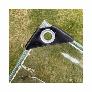 GDMING Imperméable Transparent Bâche, À Toute Épreuve PVC Plastique Rideau avec Oeillets, Intérieur et Extérieur Cloison Anti-buée (400G/M2), Personnalisable (Color : Clair, Size : 5X8M)