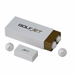 GolfJet JET2 Pack | 12 x balles de golf JET2 de qualité supérieure. Core puissant, couverture souple 338 en uréthane hexadécimal. Disques plus longs, essor de jeu amélioré