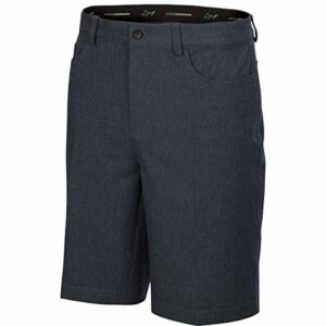 Greg Norman Short Hybride Ml75 Microlux Heathered 5 Poches pour Homme, Homme, Short, G7S20H903, Noir chiné, 48