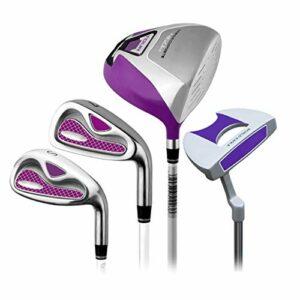 HEQIE-YONGP Balle de Golf- Golf Set Rod Mesdames Demi Set Golf Club Golf Club Putter Pink Droitier Utilisé Putter Golf pour Les Femmes, 4 Pcs (Color : One Color, Size : S1)