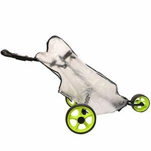 HNYG HYFCZ15 Sac de voyage de golf en PVC translucide pleine longueur Housse de pluie imperméable et résistante à la poussière