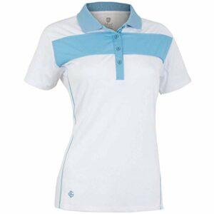 Island Green Iglts1881 Polo de Golf pour Femme, Femme, IGLTS1881_Whit_16, Cadet Blanc/Bleu, 44
