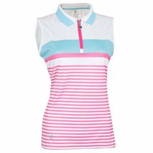 Island Green Iglts1925 Polo de Golf pour Femme, Femme, IGLTS1925_PINKJ_18, Rose jolt/Bleu Cadet, 18
