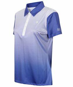 Island Green Polo de golf de qualité supérieure pour femme – Respirant – Différents modèles – Bleu – 42