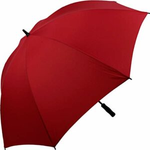 iX-brella Full-Fiber Parapluie de golf XXL résistant aux chutes avec poignée souple 130 cm Rouge rouge foncé