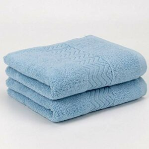 Kabinga mm20190823003 Serviettes de Toilette Unisexe, Bleu Clair, Middle