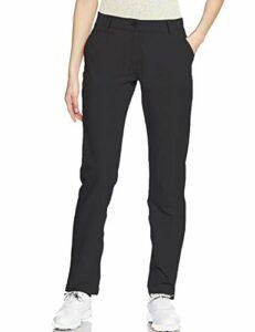 Lesmart Pantalon Chino Femme Golf Stretch Tailleur Bureau Classique Business Casual Taille 44 Taille 89cm Noir