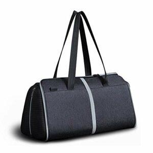 MAATCHH Sac de Golf Vêtements Chaussures Sac de Golf Vêtements de Sport Pliable Sac à Main Voyage avec Serrure Sport Portable (Color : Black, Size : 18.6L)