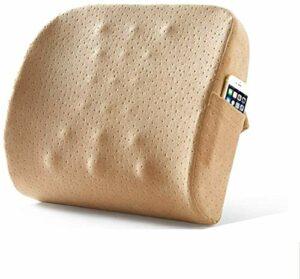 Mémoire coton multi-fonctionnelle Coussin de taille, le dos du support des chaises de couchage Home Office Soulager la douleur (plusieurs couleurs) 9.17 (Color : Camel)
