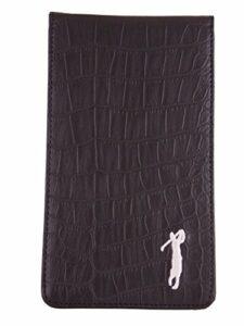 Mercia Golf Étui pour carte de scores et carnet de parcours aspect cuir crocodile noir