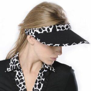 Monterey Club Leopard taillé à visière # V554, Homme, Noir/crème, Size:UNI